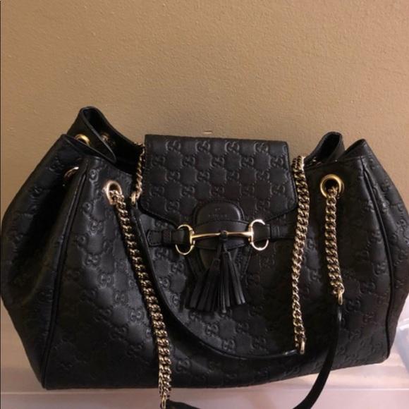 Gucci Handbags - Gucci Emily Large Chain Shoulder Bag